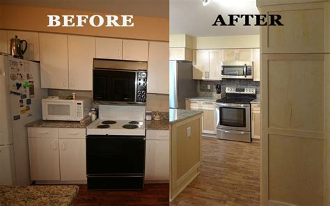 how to refinish maple cabinets kitchen refacing project by dreammaker ann arbor showing