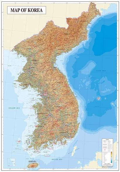 Korea Map Detailed Topography North Maps Geology
