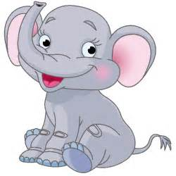 Cartoon Baby Elephant Clip Art