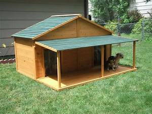 your big friend needs a large dog house mybktouchcom With outdoor dog house ideas