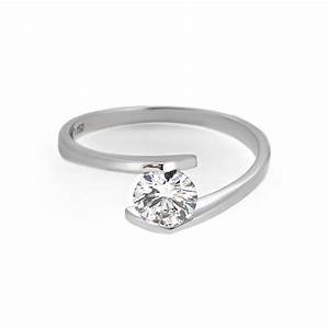 tension set modern engagement ring haywards of hong kong With wedding rings hong kong