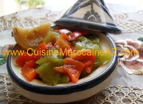 cuisine de a à z entrées salade aux deux poivrons grillés سلطة الفلفل المشوي la