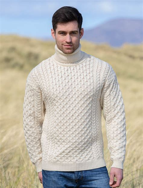 mens wool turtleneck sweater mens wool turtleneck sweater fisherman sweater cable knit