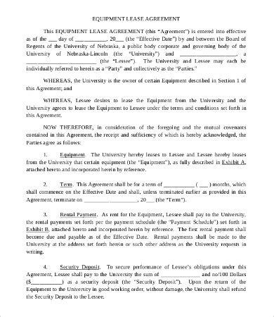 simple commercial lease agreement templates word