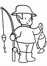 Fishing Coloring Rod sketch template