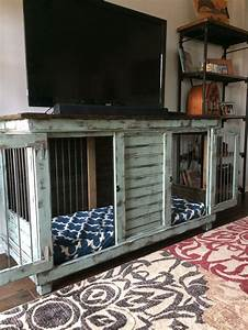 best 25 dog crate furniture ideas on pinterest puppy With dog crate entry table