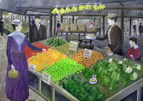 victorian market  painting  ronald haber