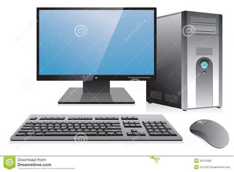 poste de travail d ordinateur de bureau photo stock image 20137680