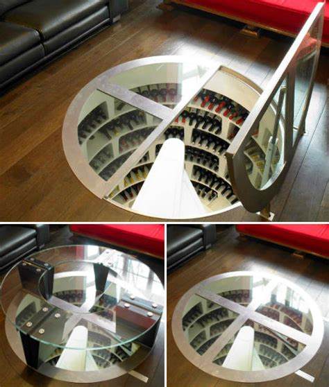 spiral wine cellar in kitchen floor secret spirals underground home wine cellar spaces urbanist 9374