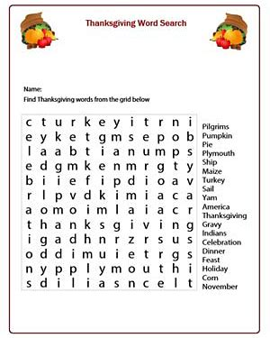 4th grade thanksgiving printable activities happy easter