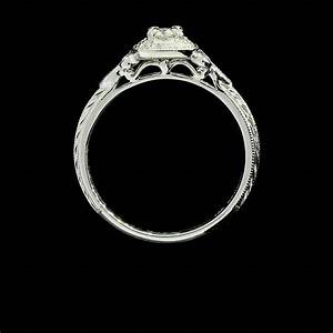 round diamond fleur de lis halo engagement ring at 1stdibs With fleur de lis wedding ring