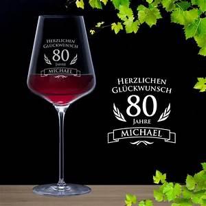 Geburtstag Berechnen : weinglas zum 80 geburtstag rotweinglas mit pers nlicher namensgravur ~ Themetempest.com Abrechnung