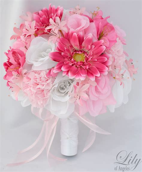 pcs wedding bridal bouquet silk flower decoration