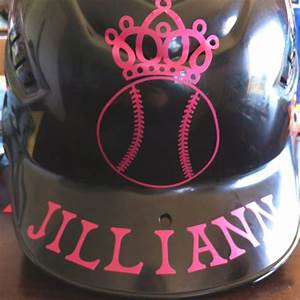 custom batting helmet she helped so the letters are a bit With baseball helmet decals letters
