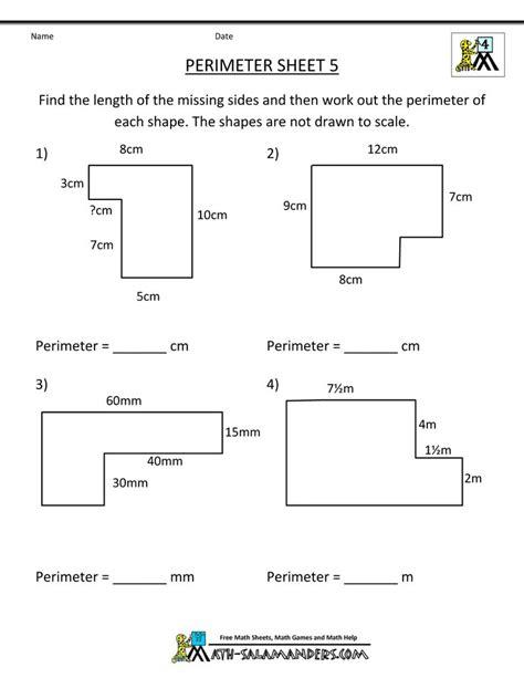 year 6 maths perimeter worksheets geometry worksheets