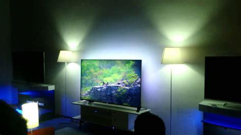 teste philips hue light smart tv ambilight youtube
