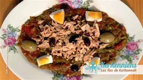 cuisine au barbecue recette de cuisine salade méchouia au barbecue kerkennah