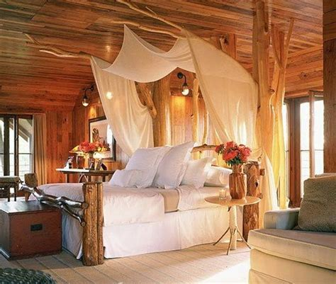 bedroom beautiful romantic bedroom  couple  king size wooden bed set  canopy