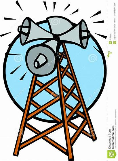 Tower Communications Vector Clipart Illustration Sound Clip