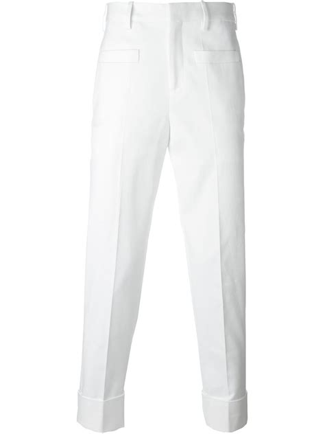 Neil barrett Classic Tailored Trousers in White for Men