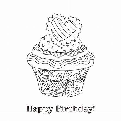 Birthday Printable Cards Coloring Card Happy Homemade