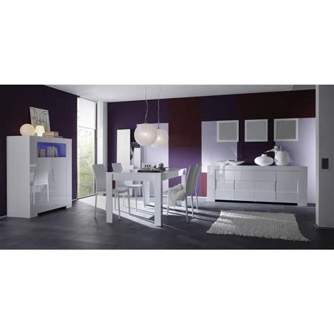 meuble haut blanc laque salle 224 manger blanc laqu 233 buffet 4 portes meuble haut 2 portes table 180 cm mooviin