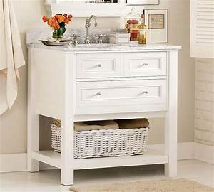 Classic single sink console white traditional for Classic vanities bathrooms