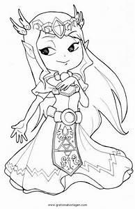 Zelda, 22, Gratis, Malvorlage, In, Comic, U0026, Trickfilmfiguren