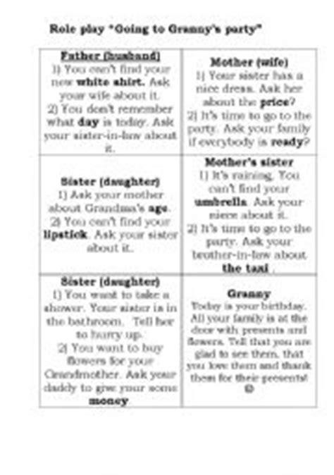 worksheet family play