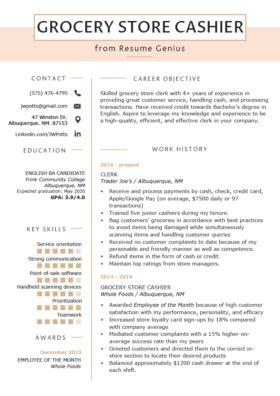 Describe Cashier On Resume by Cashier Resume Sle Writing Guide Resume Genius