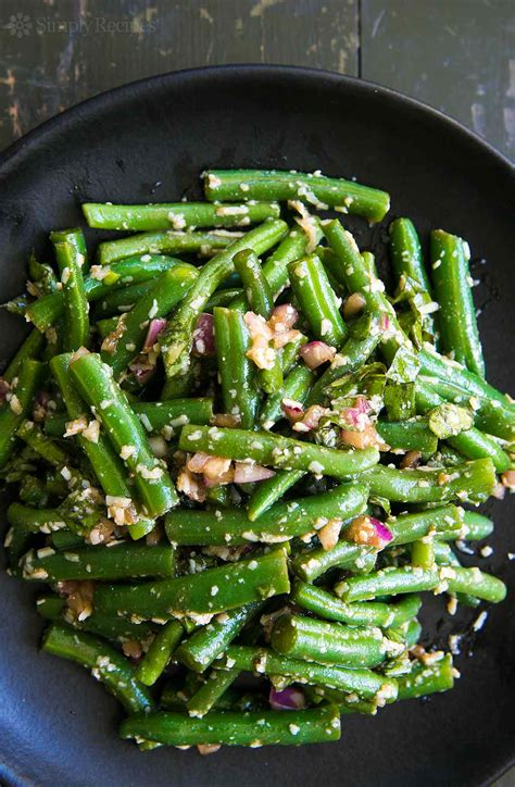 cuisine provencal green bean salad with basil balsamic and parmesan recipe