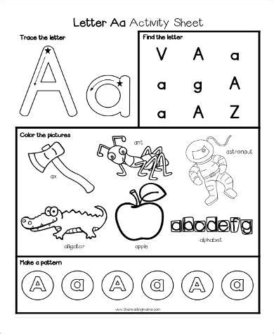 letter  hunting worksheets   year olds