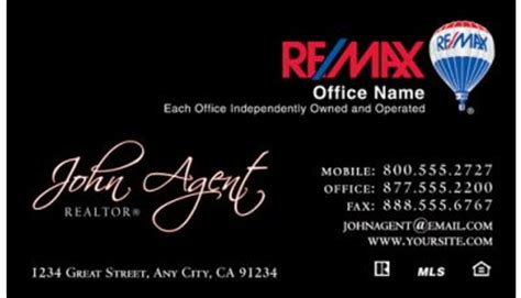 Black Remax Business Cards Templates by Business Card Designs