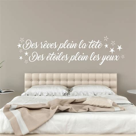 stickers muraux citations pas cher sticker citation des r 234 ves plein la t 234 te pas cher stickers citations discount stickers