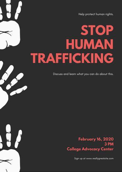 customize  human trafficking poster templates