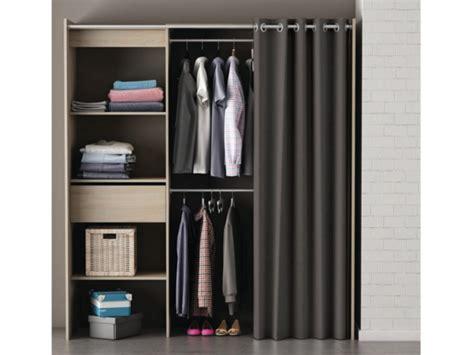 vente unique canape armoire dressing extensible l114 168cm kylian 3 coloris