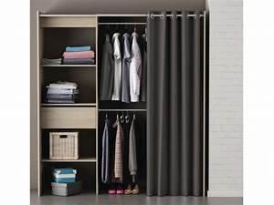 Armoire dressing extensible L114/168cm KYLIAN 3 coloris