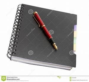 Fountain Pen On Notebook Royalty Free Stock Photos - Image ...