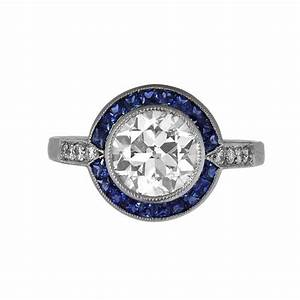 188ct diamond and sapphire engagement ring estate With diamond and sapphire wedding rings