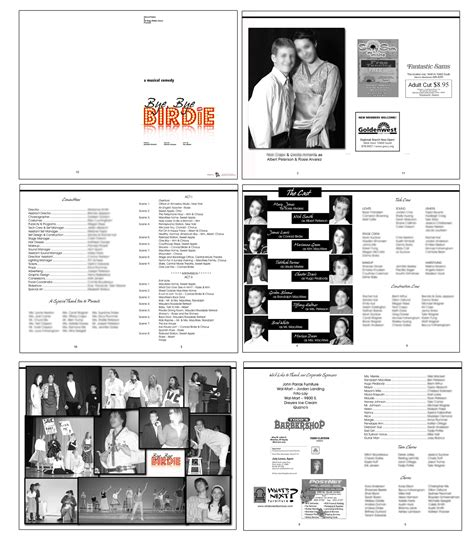 Playbill Template Word