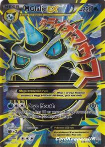 pokemon card mega glalie ex full art xy breakthrough mint new p