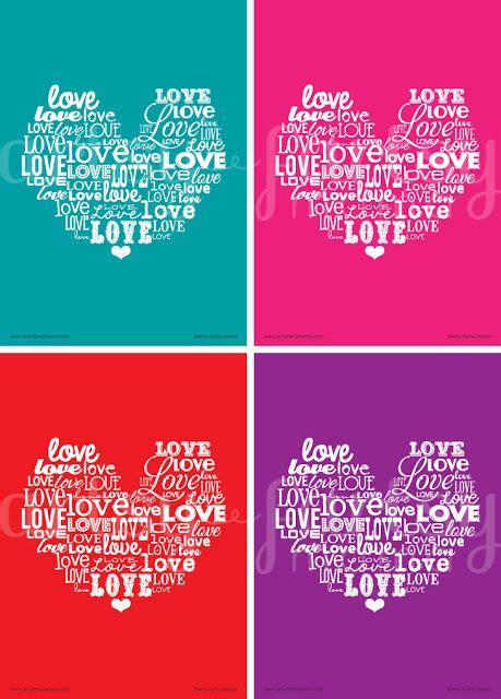 artsy fartsy mama printable valentine words word art