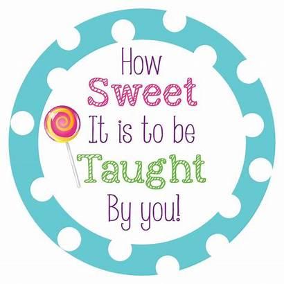 Appreciation Teacher Sweet Quotes Week Teachers Clipart