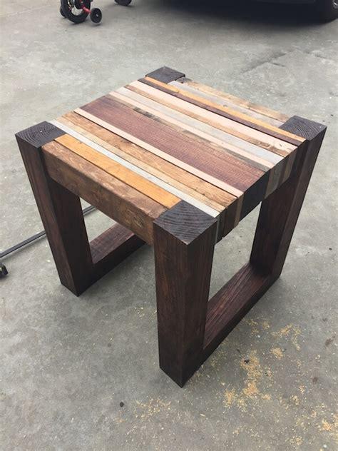 wood side table plans scrap wood side table free diy tutorial rogue engineer