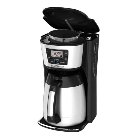 coffee maker carafe thermal decker cup programmable coffeemaker auto walmart silver quality