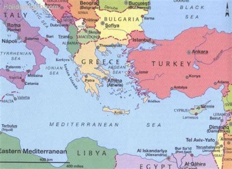 map  italy  greece holidaymapqcom