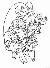 Glitter Force Coloring Pages Cure Heart Precure Printable Pretty Doki Entitlementtrap Drawing Adult Popular sketch template
