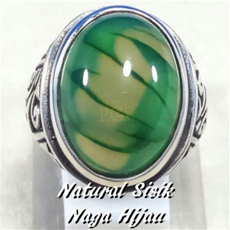 Batu Cincin Sisik Naga jual cincin batu akik lumut sisik naga hijau