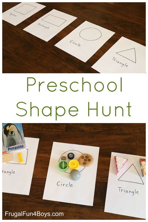 preschool shape scavenger hunt learning activities 668 | 047d01d8ca88b14275e4d96372c5a24b