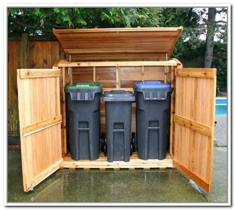 trash  storage outdoor outdoor trash bin storage
